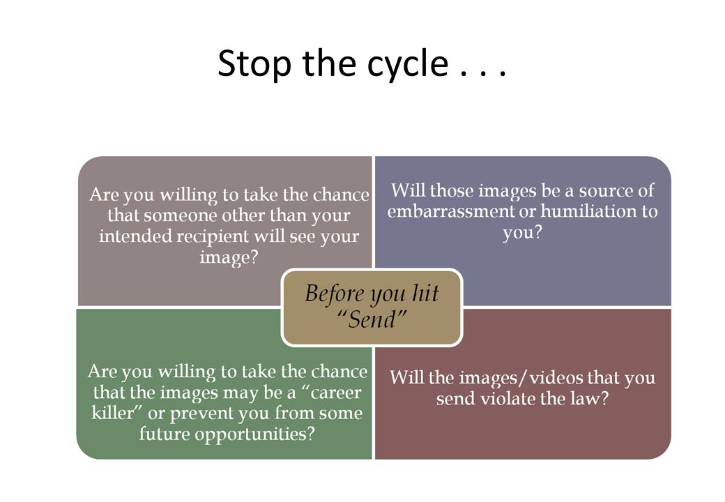 Stop the cycle . . .