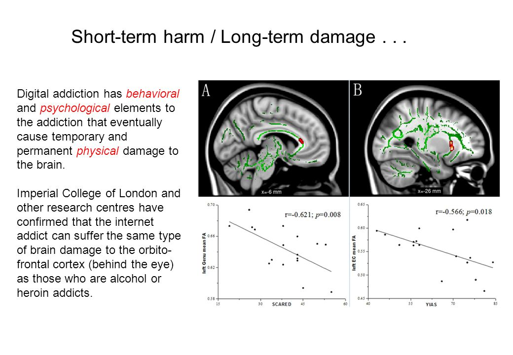 Short-term harm / Long-term damage . . .
