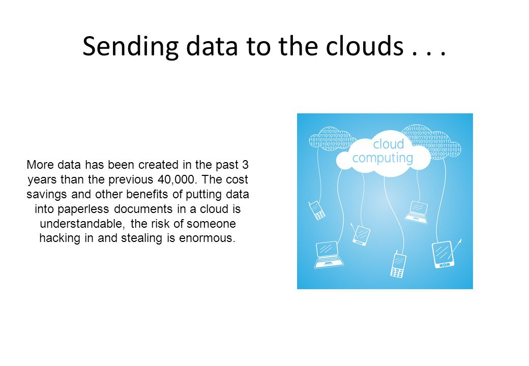 Sending data to the clouds . . .