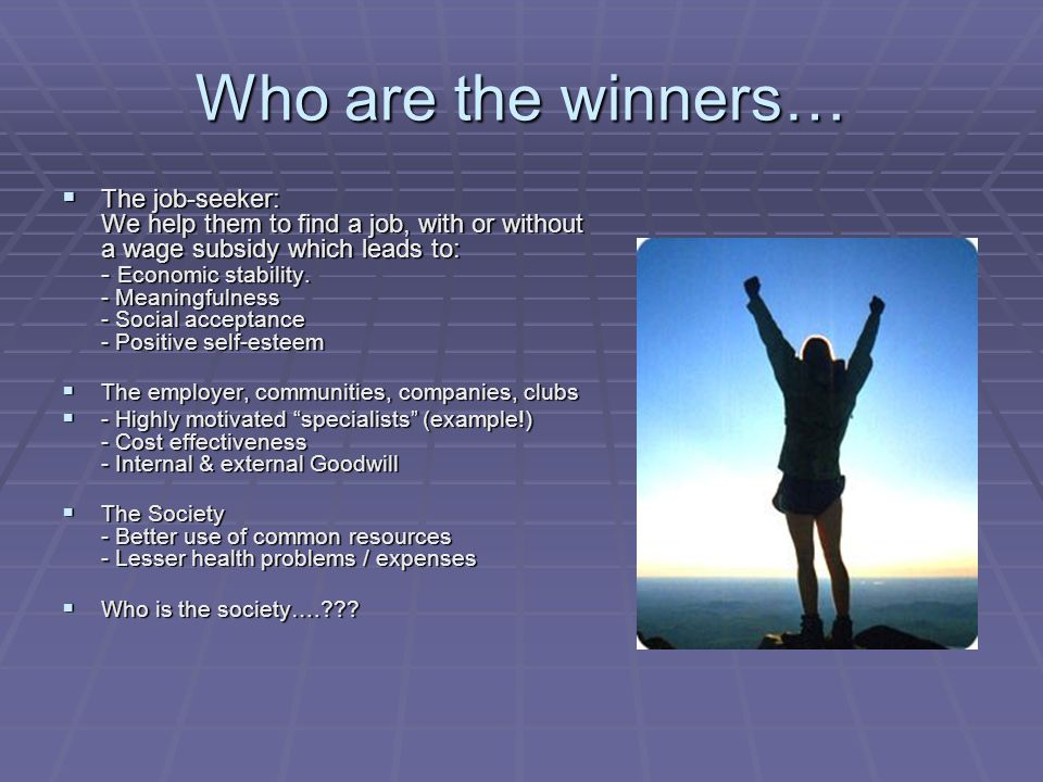 Who are the winners…