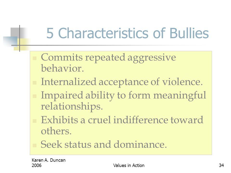 5 Characteristics of Bullies