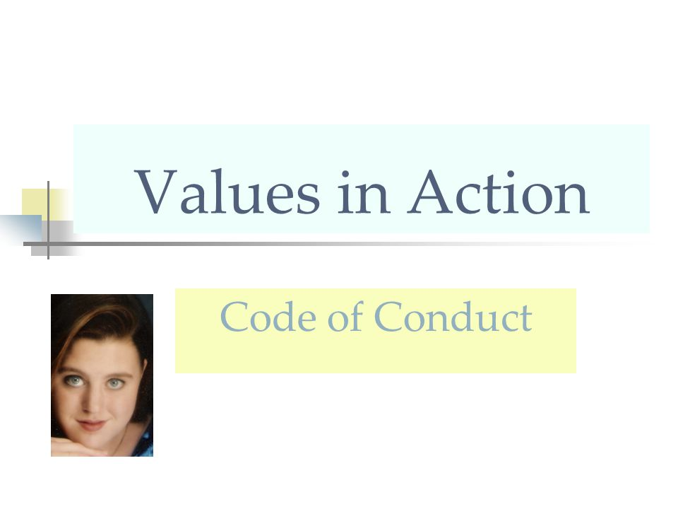 Values in Action Code of Conduct
