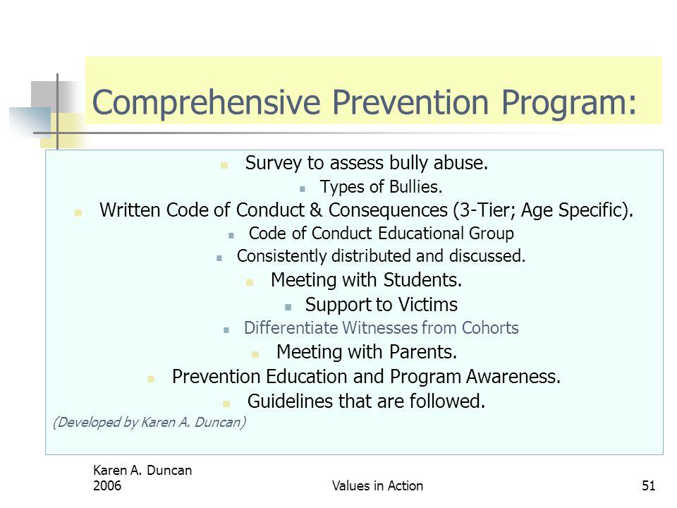 Comprehensive Prevention Program: