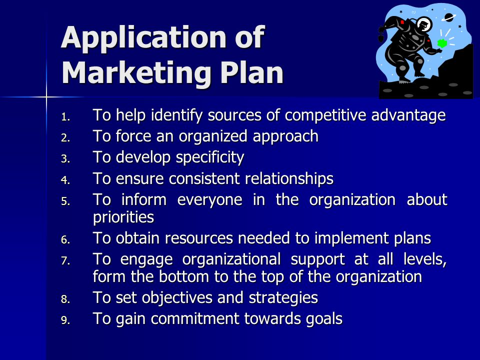 Application of Marketing Plan