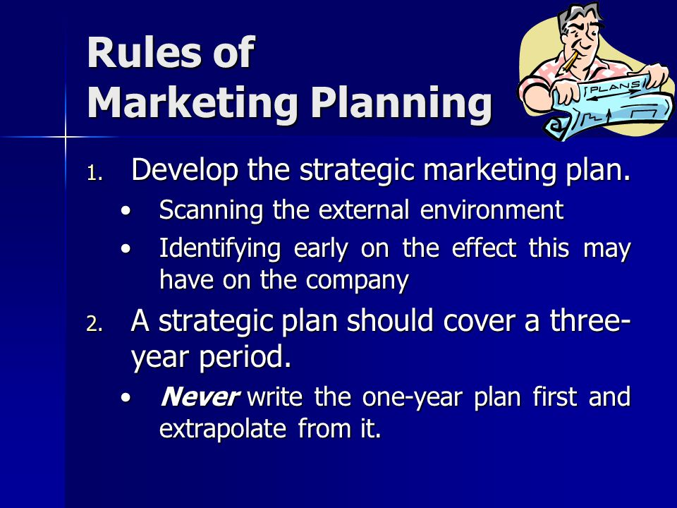 Rules of Marketing Planning