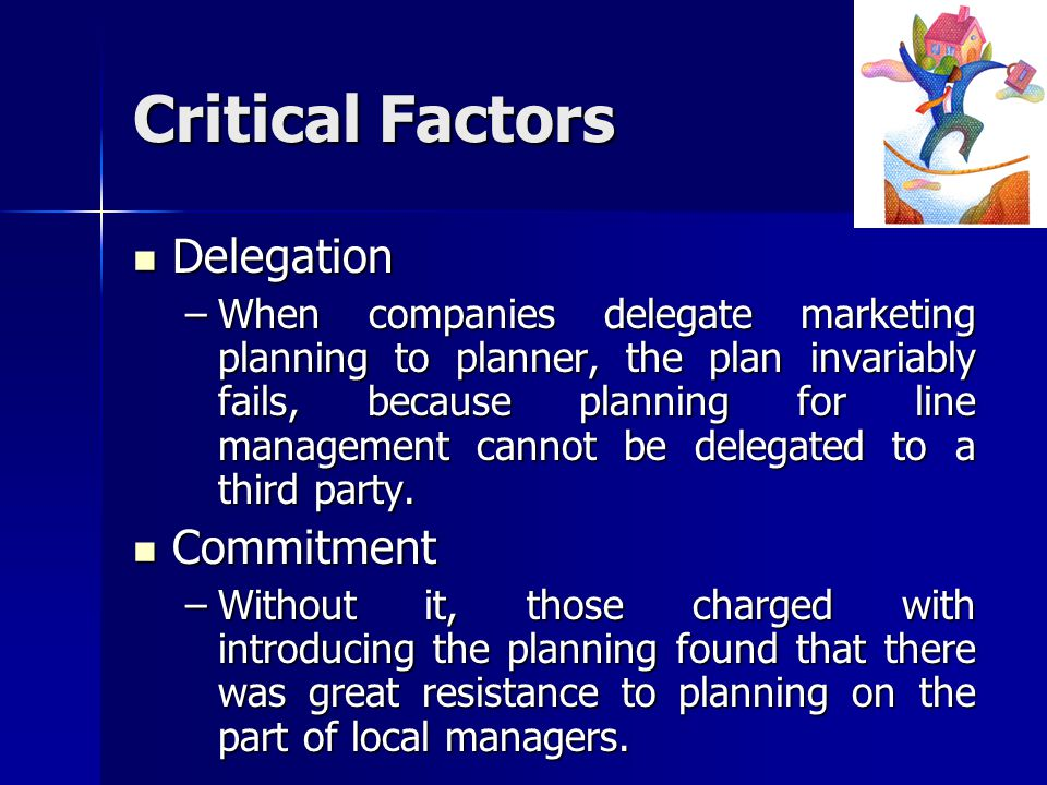 Critical Factors Delegation Commitment