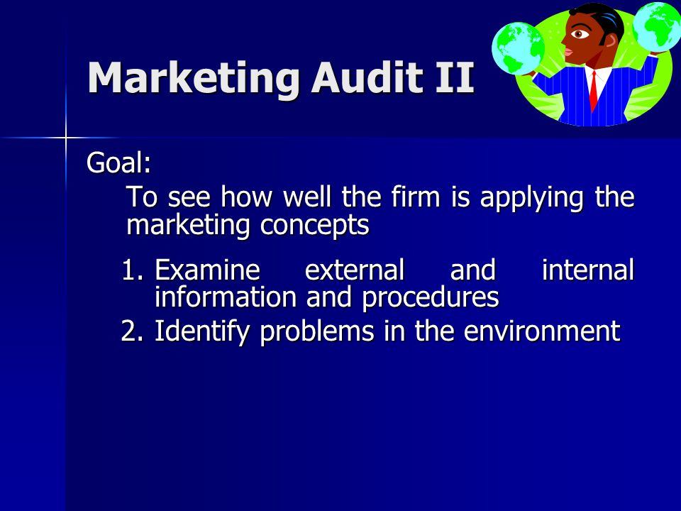Marketing Audit II Goal: