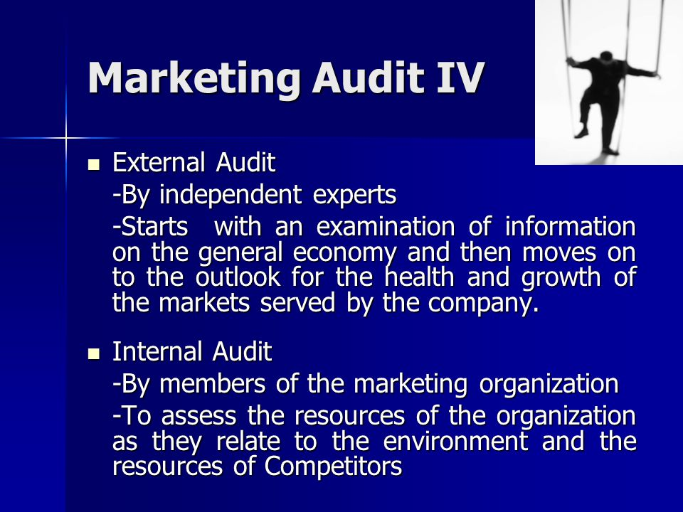Marketing Audit IV External Audit -By independent experts