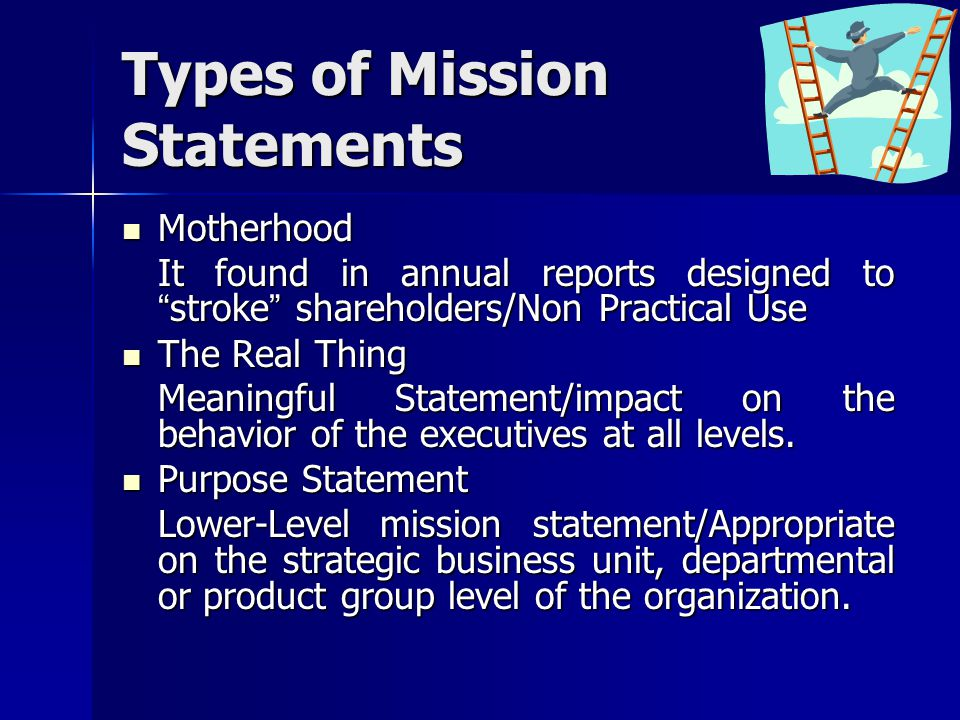 Types of Mission Statements