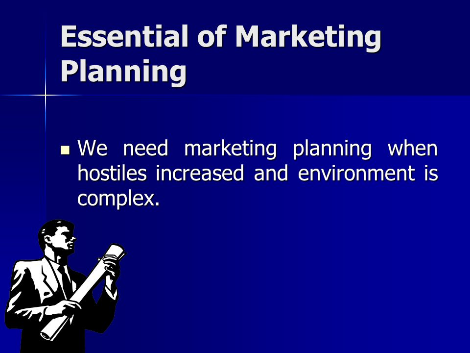 Essential of Marketing Planning