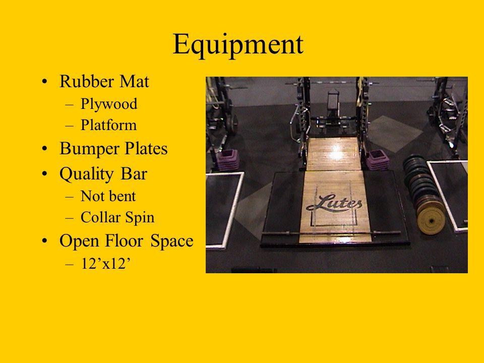 Equipment Rubber Mat Bumper Plates Quality Bar Open Floor Space