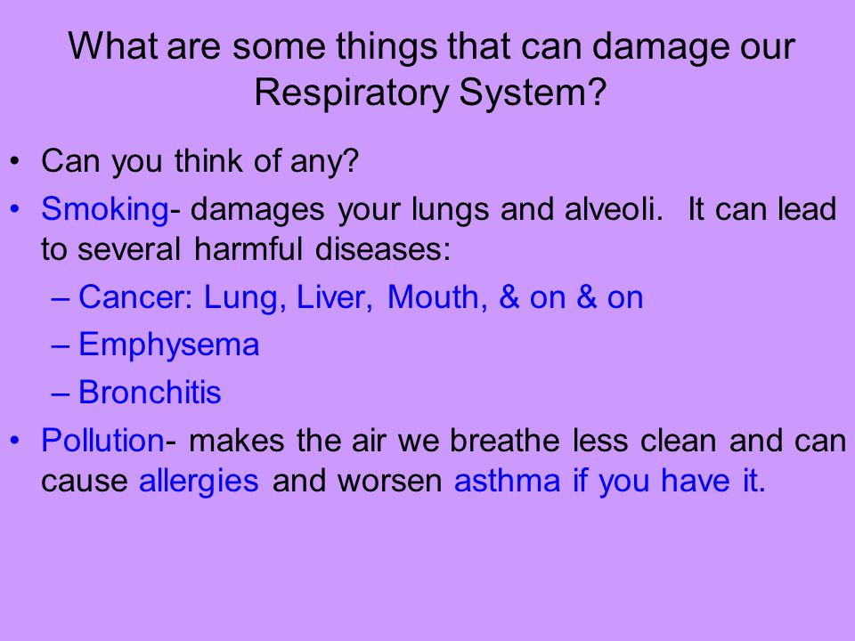 What are some things that can damage our Respiratory System