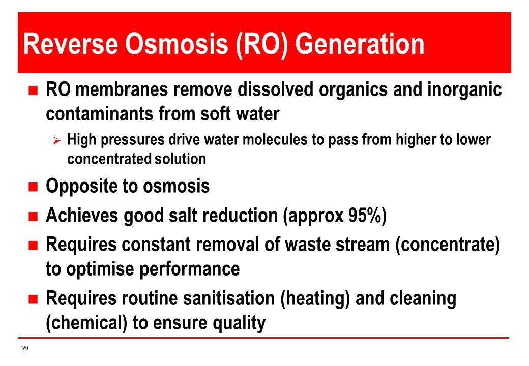 Reverse Osmosis (RO) Generation