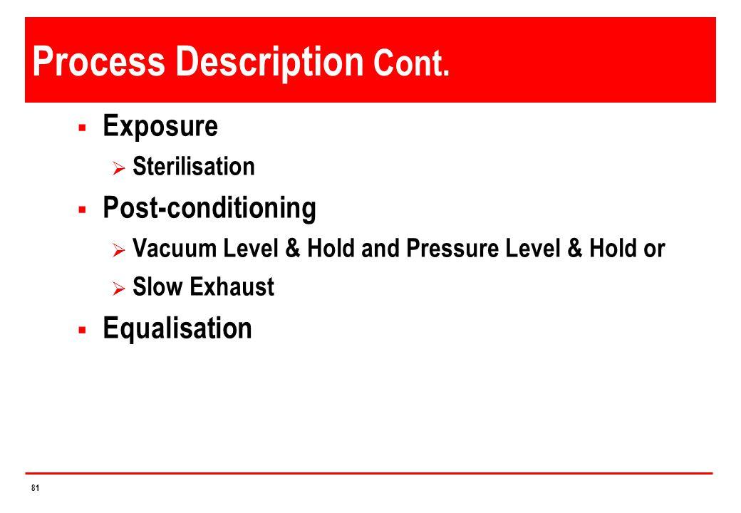 Process Description Cont.