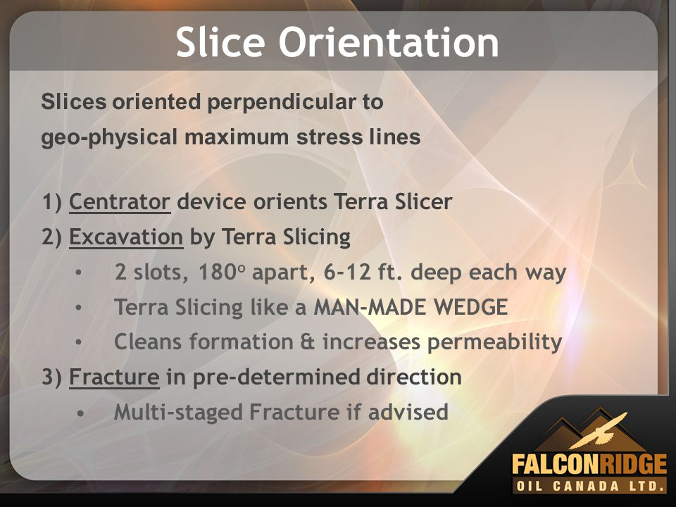 Slice Orientation Slices oriented perpendicular to