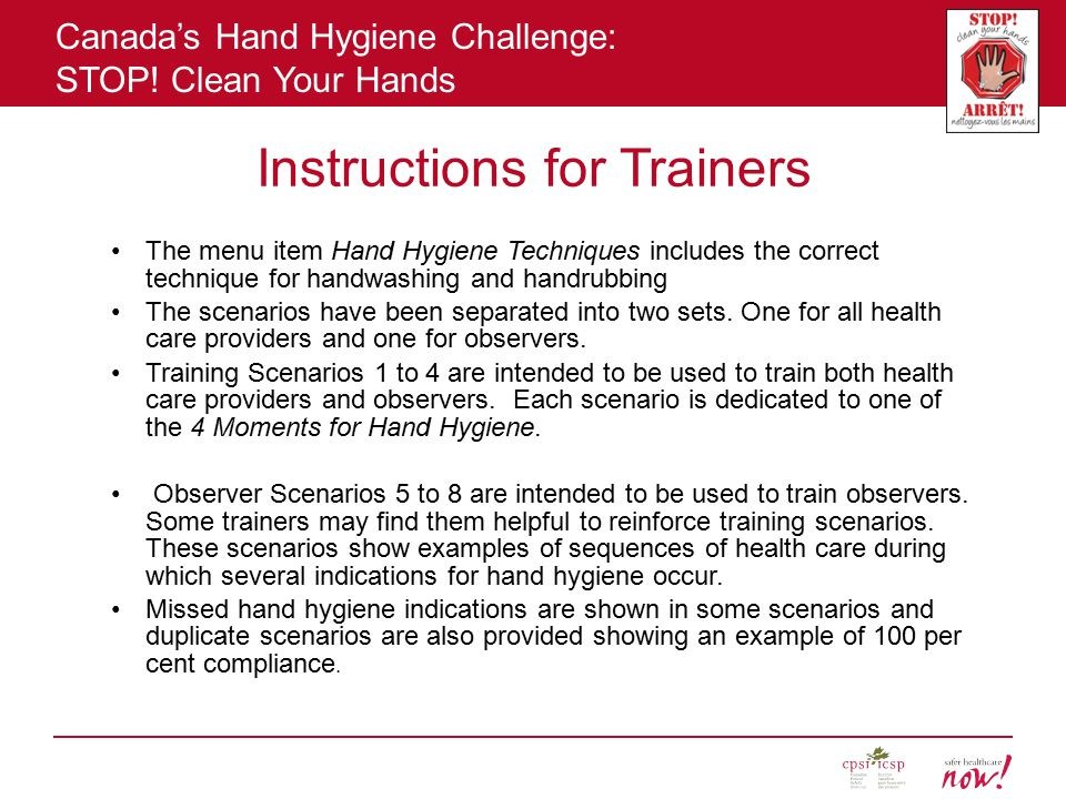 Instructions for Trainers
