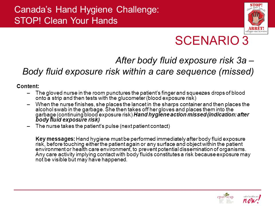 After body fluid exposure risk 3a –