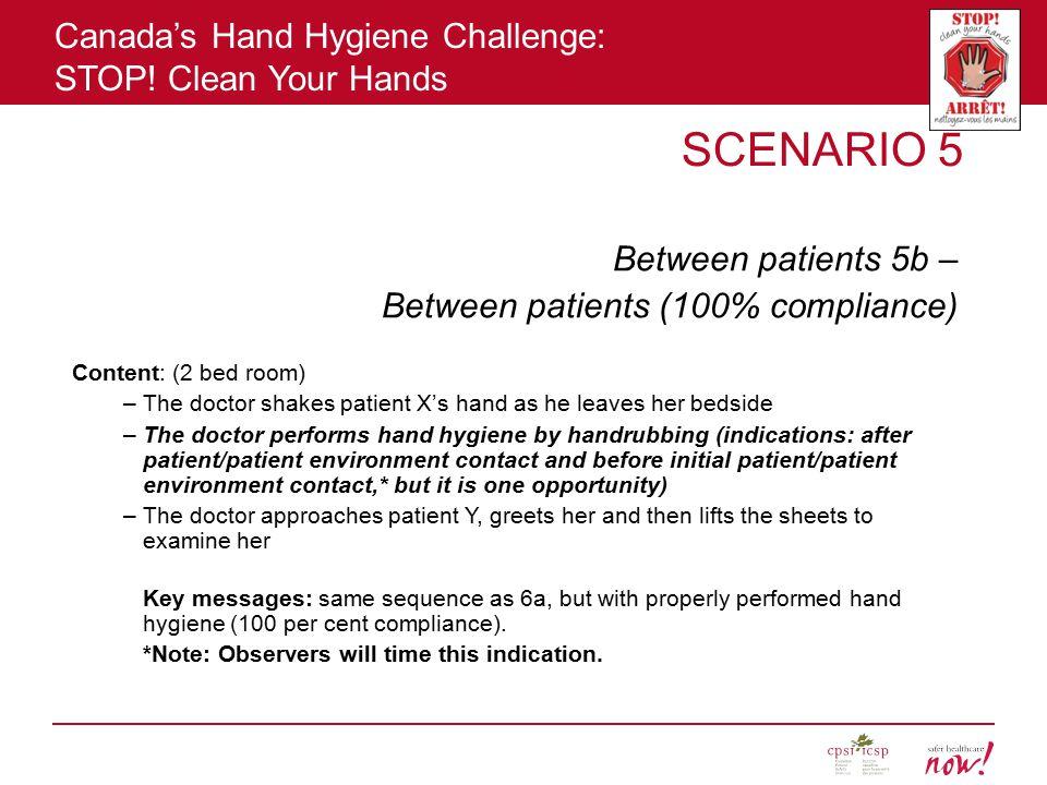 SCENARIO 5 Between patients 5b – Between patients (100% compliance)