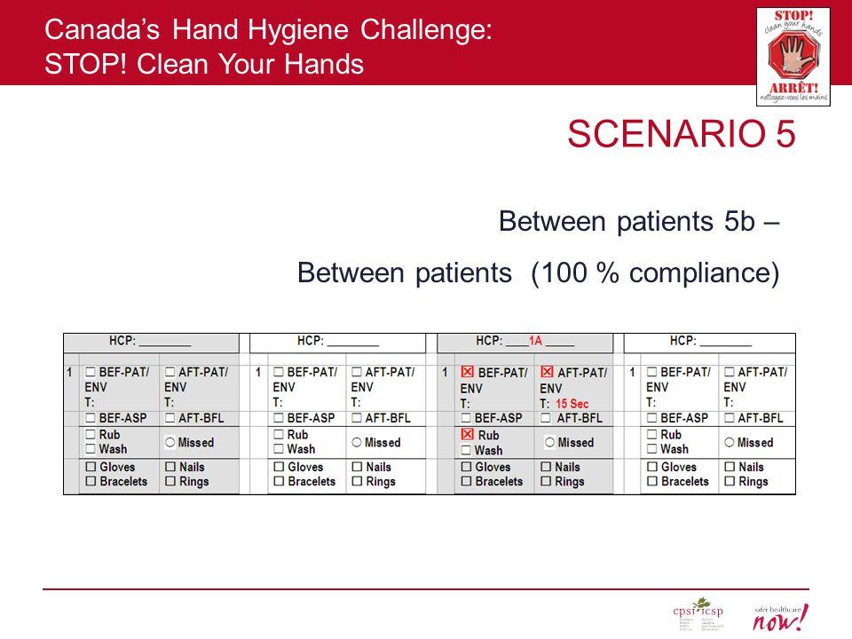SCENARIO 5 Between patients 5b – Between patients (100 % compliance)