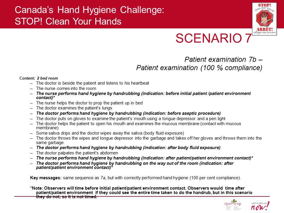 SCENARIO 7 Patient examination 7b –