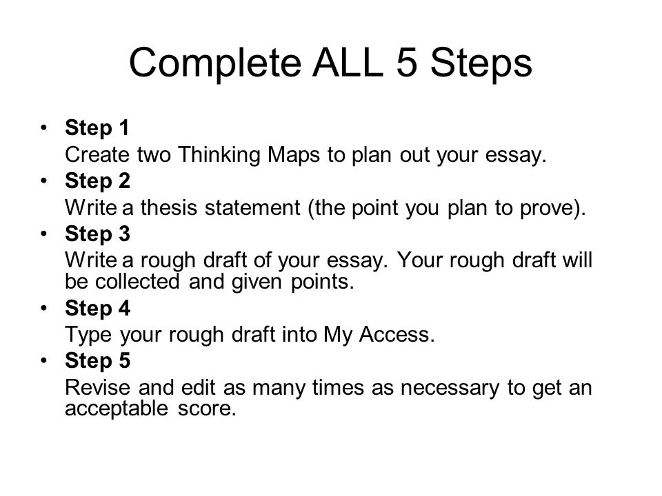 Complete ALL 5 Steps Step 1