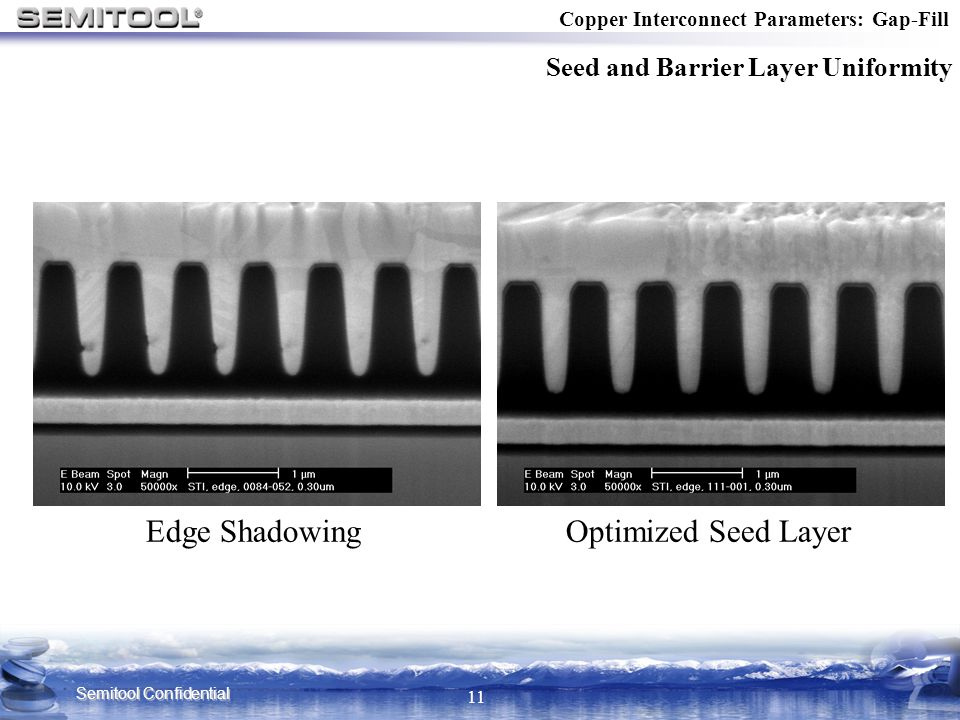 Edge Shadowing Optimized Seed Layer Seed and Barrier Layer Uniformity