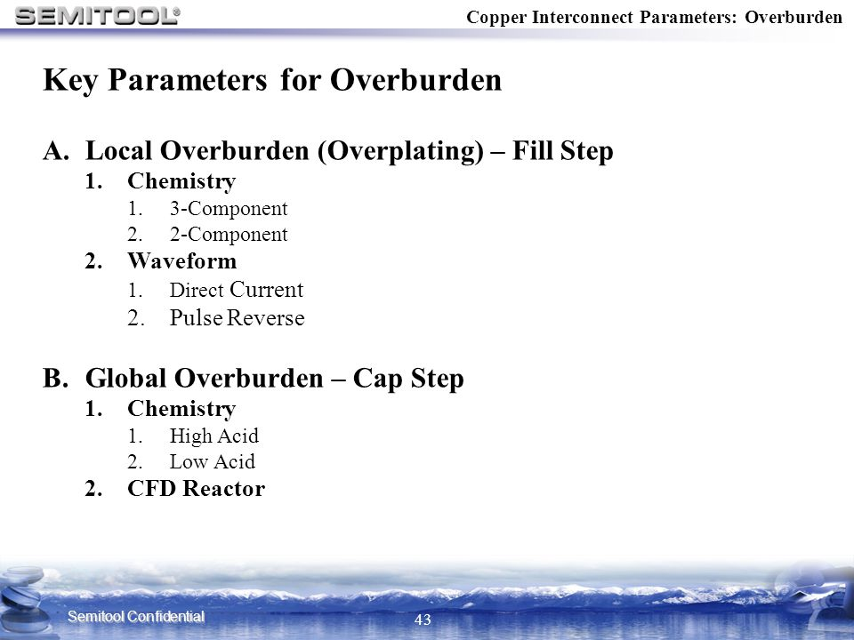 Key Parameters for Overburden