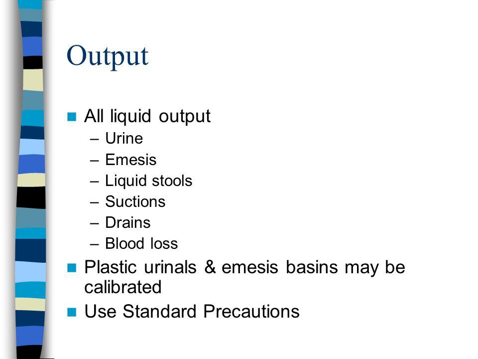 Output All liquid output