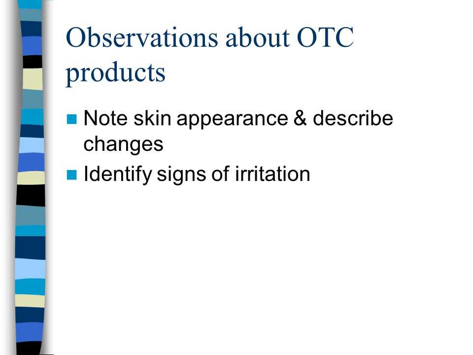 Observations about OTC products