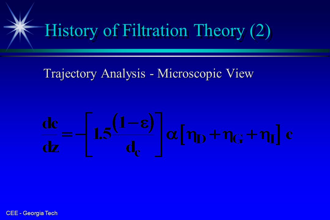 History of Filtration Theory (2)