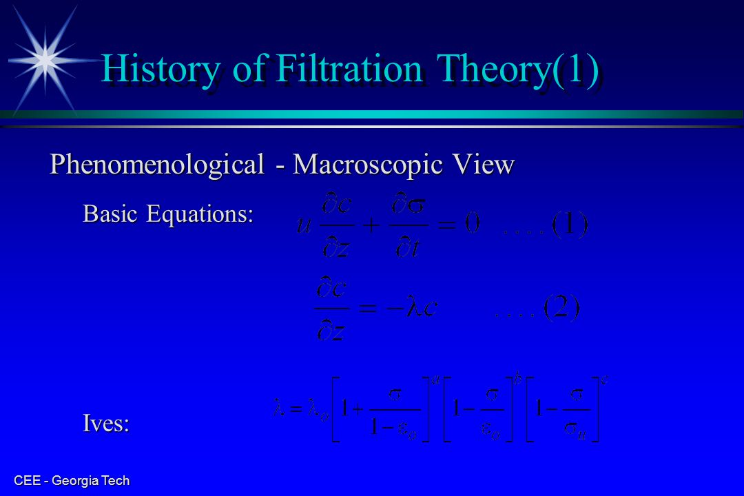 History of Filtration Theory(1)