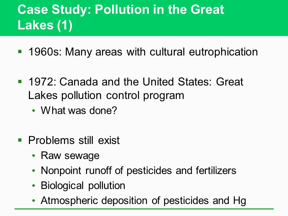 Case Study: Pollution in the Great Lakes (1)