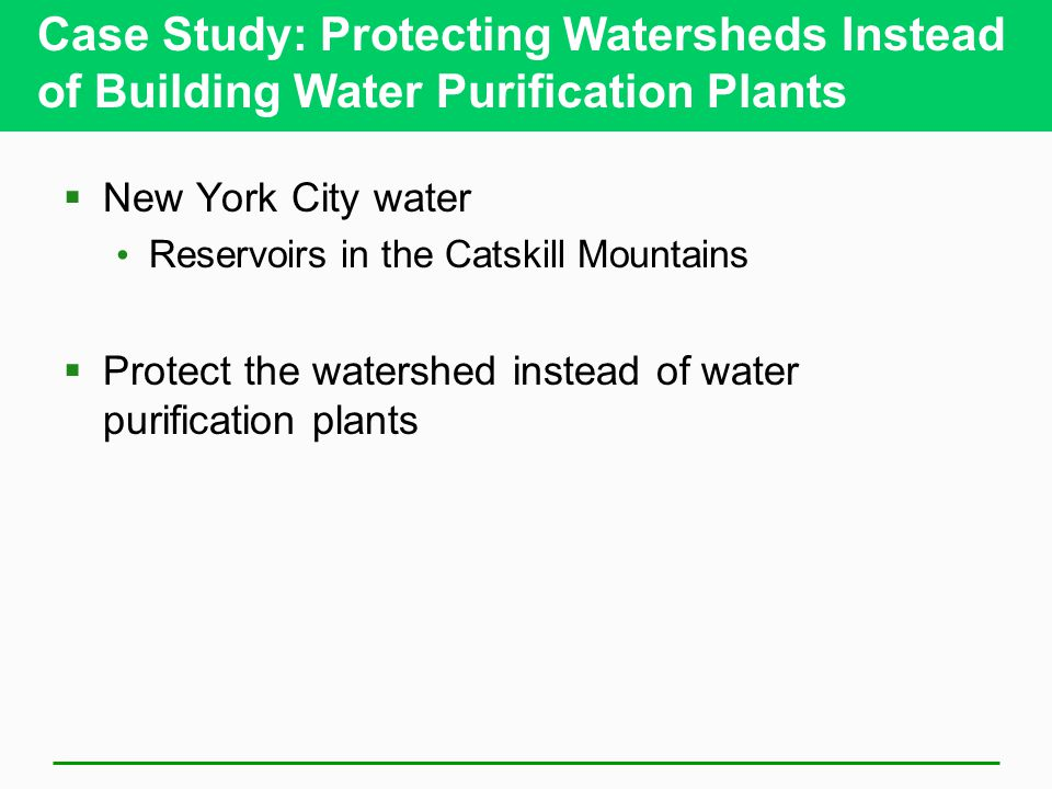 Case Study: Protecting Watersheds Instead of Building Water Purification Plants
