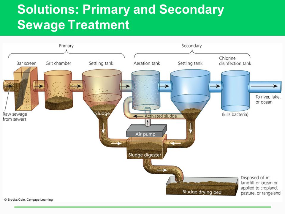 Solutions: Primary and Secondary Sewage Treatment