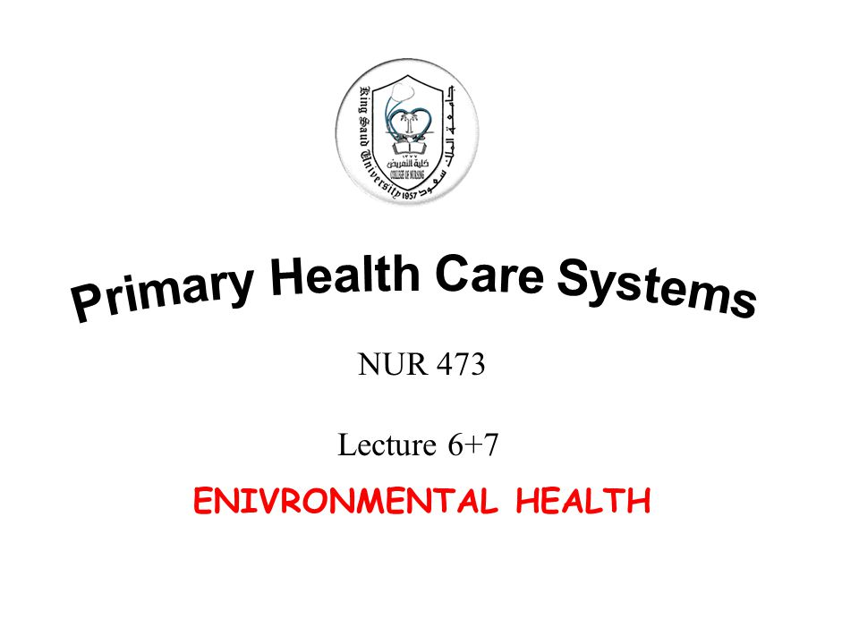 Primary Health Care Systems