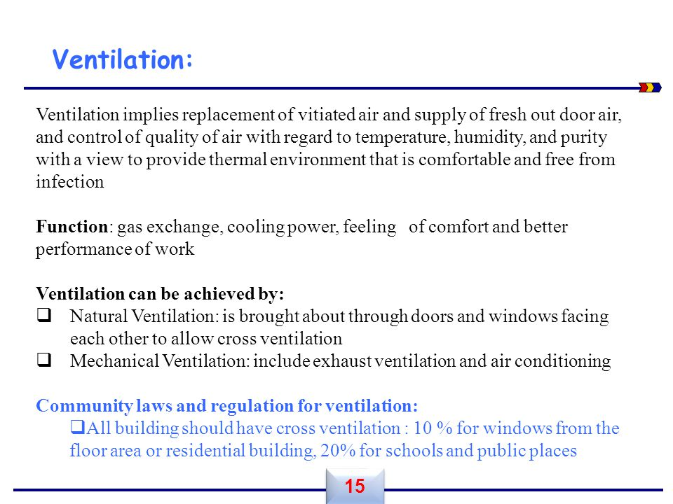 Ventilation: