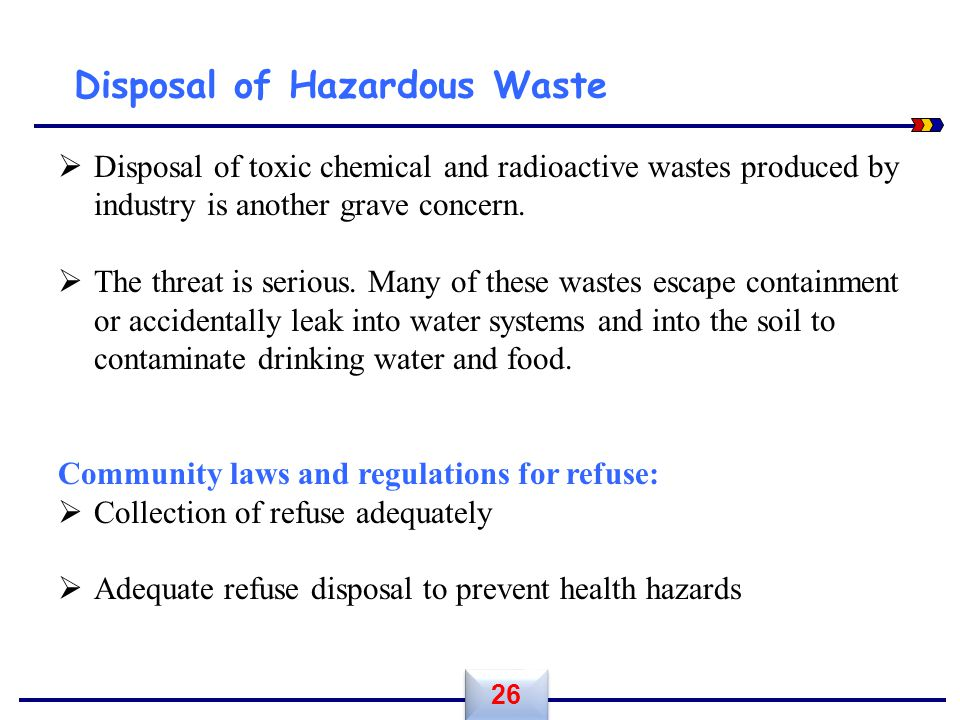 Disposal of Hazardous Waste