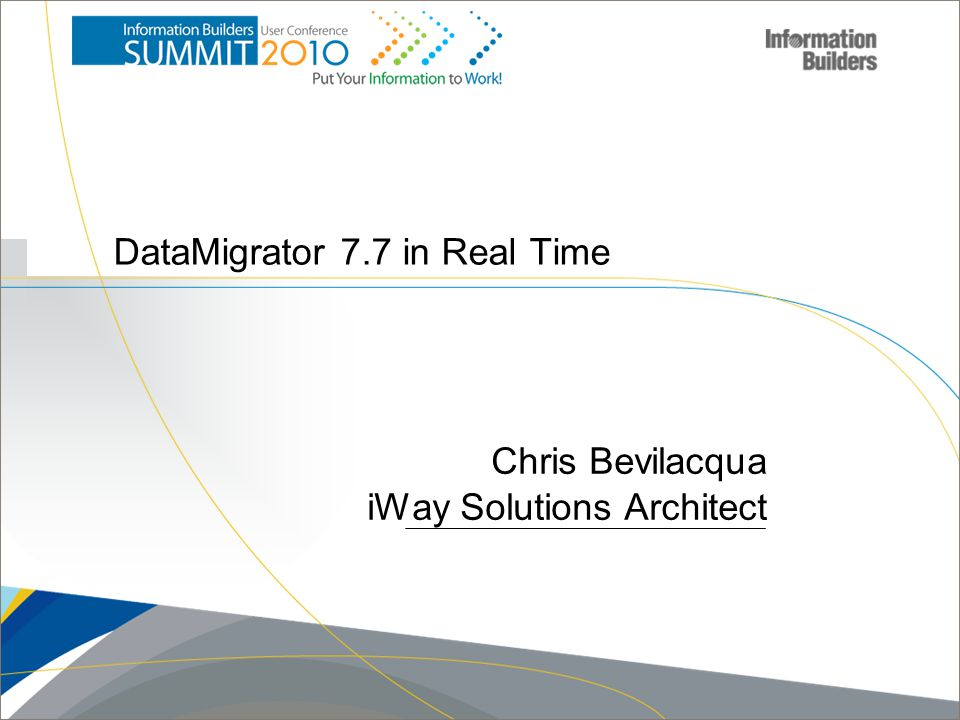 DataMigrator 7.7 in Real Time