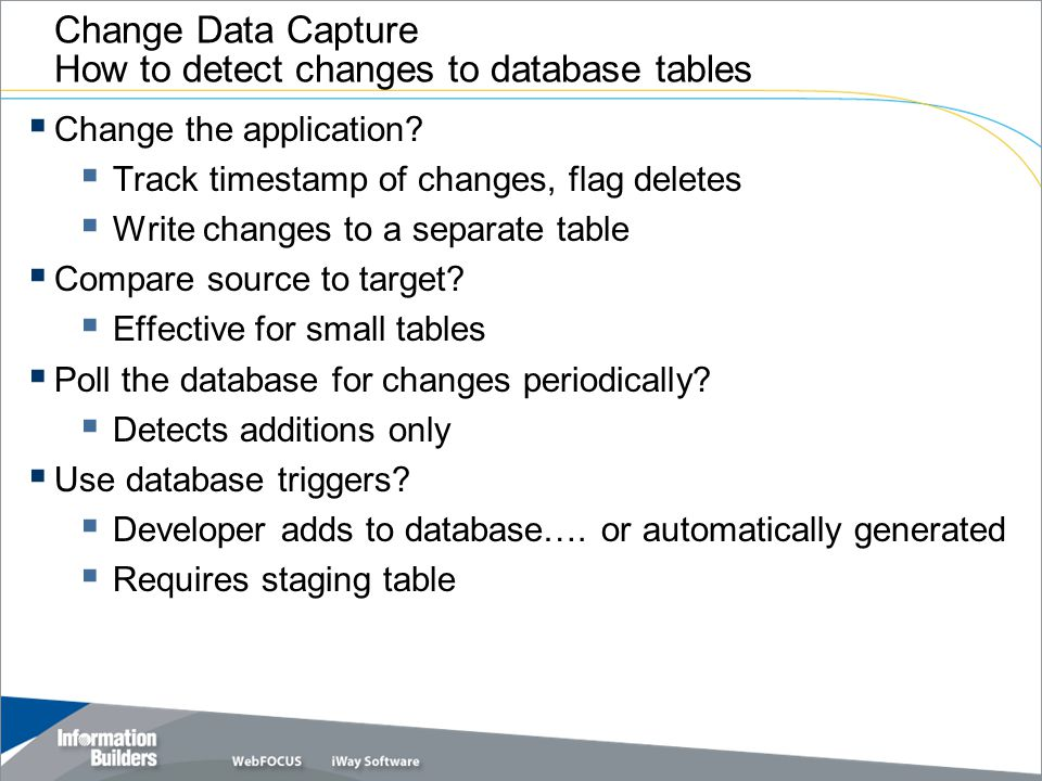 Change Data Capture How to detect changes to database tables