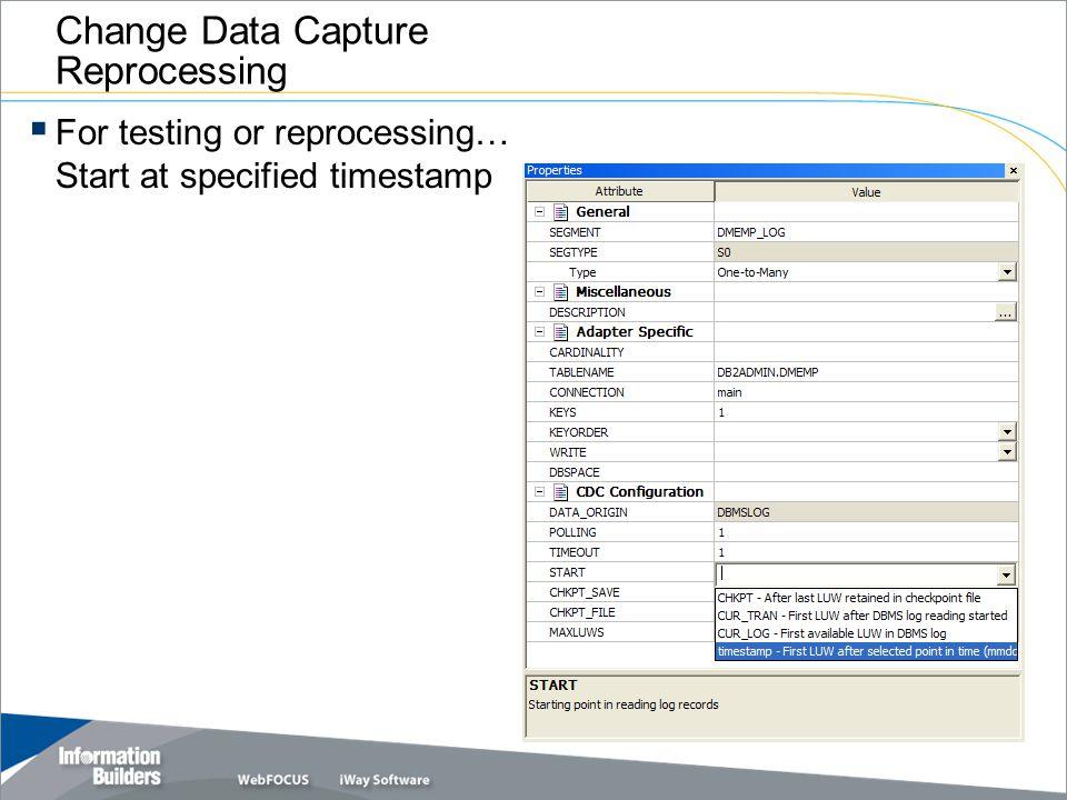 Change Data Capture Reprocessing
