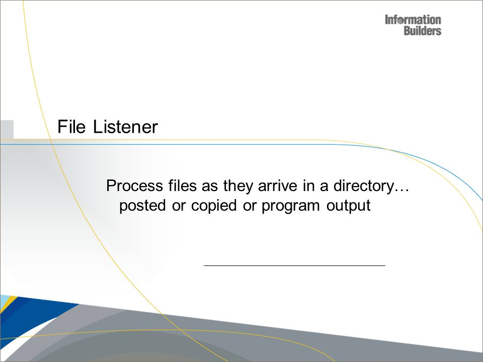 File Listener Process files as they arrive in a directory…