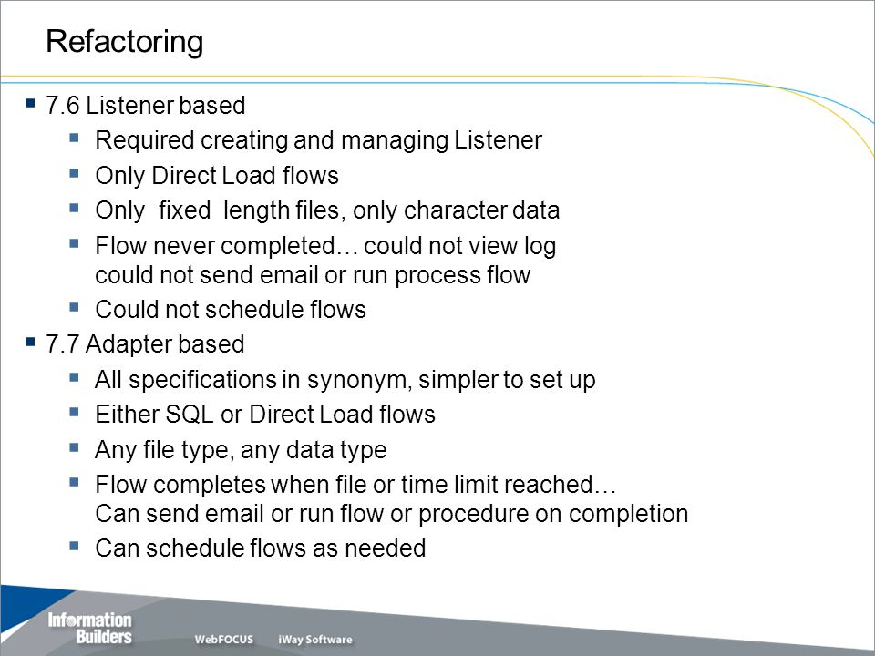 Refactoring 7.6 Listener based Required creating and managing Listener