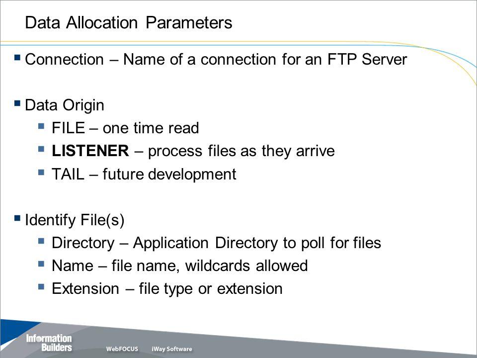 Data Allocation Parameters