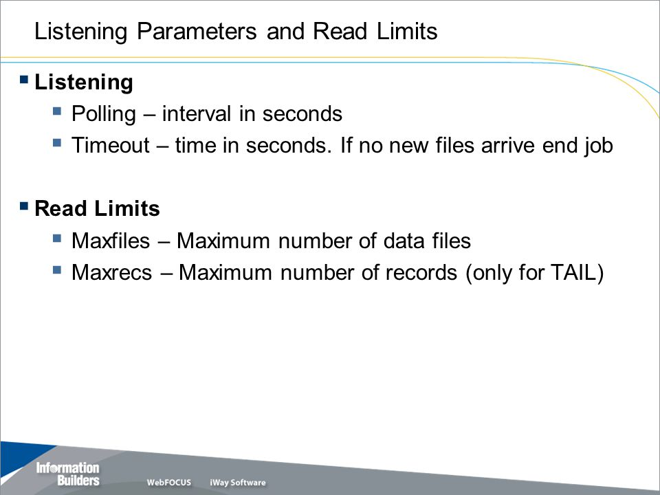 Listening Parameters and Read Limits