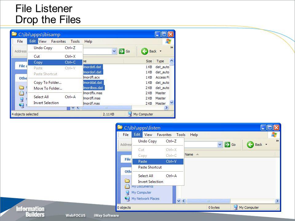 File Listener Drop the Files