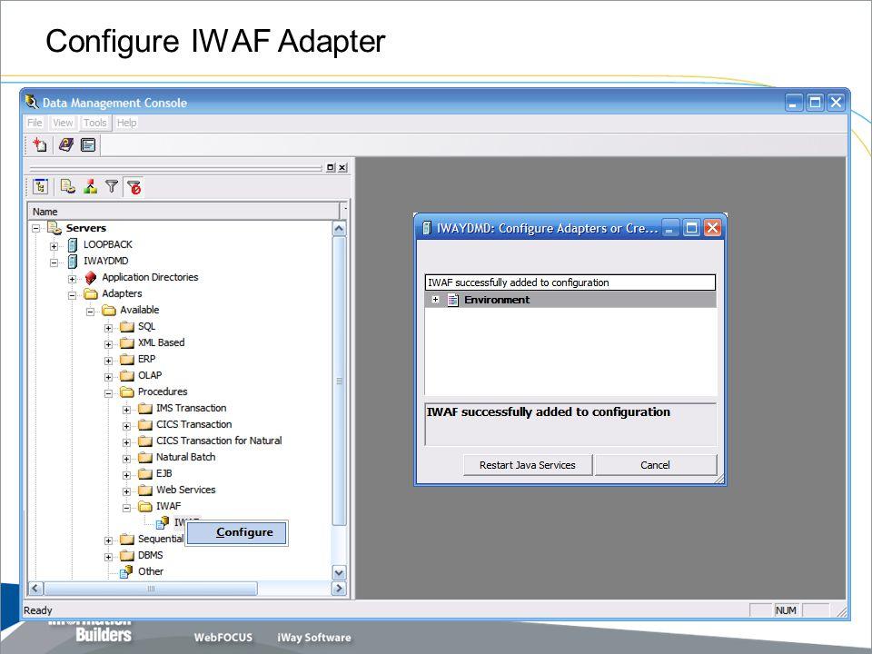 Configure IWAF Adapter