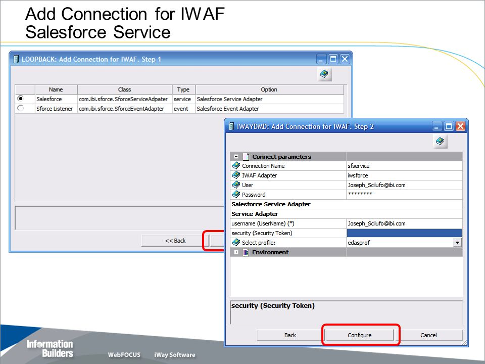 Add Connection for IWAF Salesforce Service