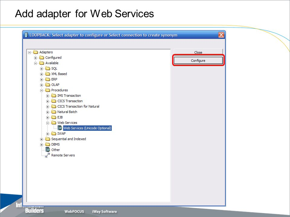 Add adapter for Web Services