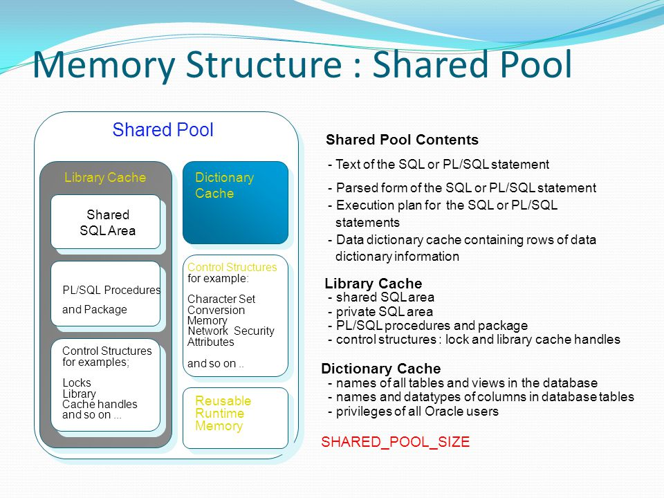Memory Structure : Shared Pool