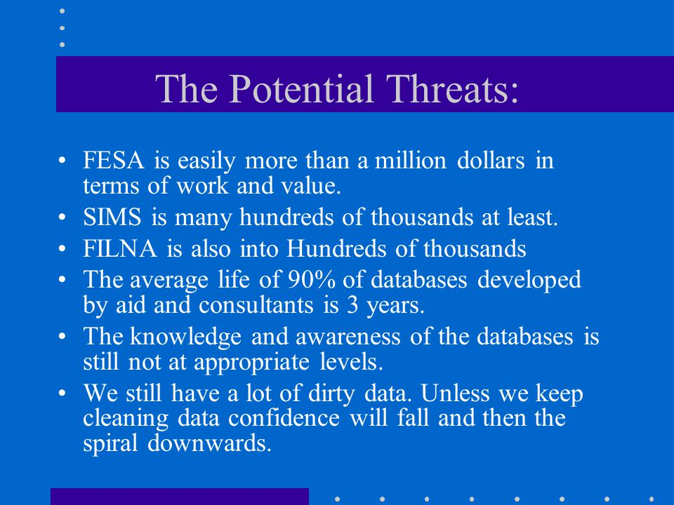 The Potential Threats: